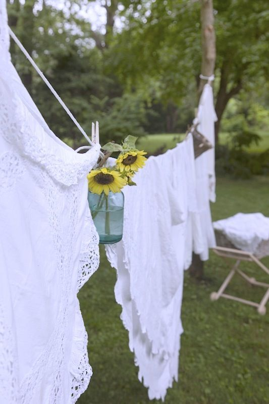 Clothes lines: Clothing Line, White Linens, Country Living, The Simple Life, Country Life, Laundry, Hanging Clothing, Flower, Antiques Linens