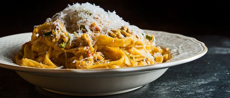 Learn to make a poblano bolognese from the chefs at Còmodo restaurant in New York.