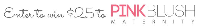 PLA Giveaway: WIn $25 to Pink Blush Maternity! #PLAGiveaway