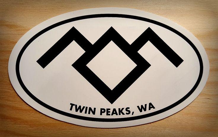 Twin Peaks Oval Sticker