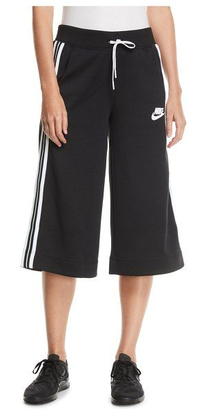e7ef9c1225ff Nike Activewear Cropped Drawstring Track Pants w  Racer Stripes.  nike