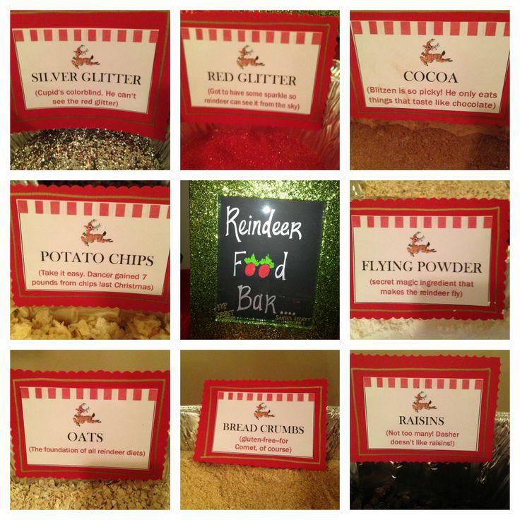 Reindeer Food Bar Labels! Adorable! Perfect for kids!