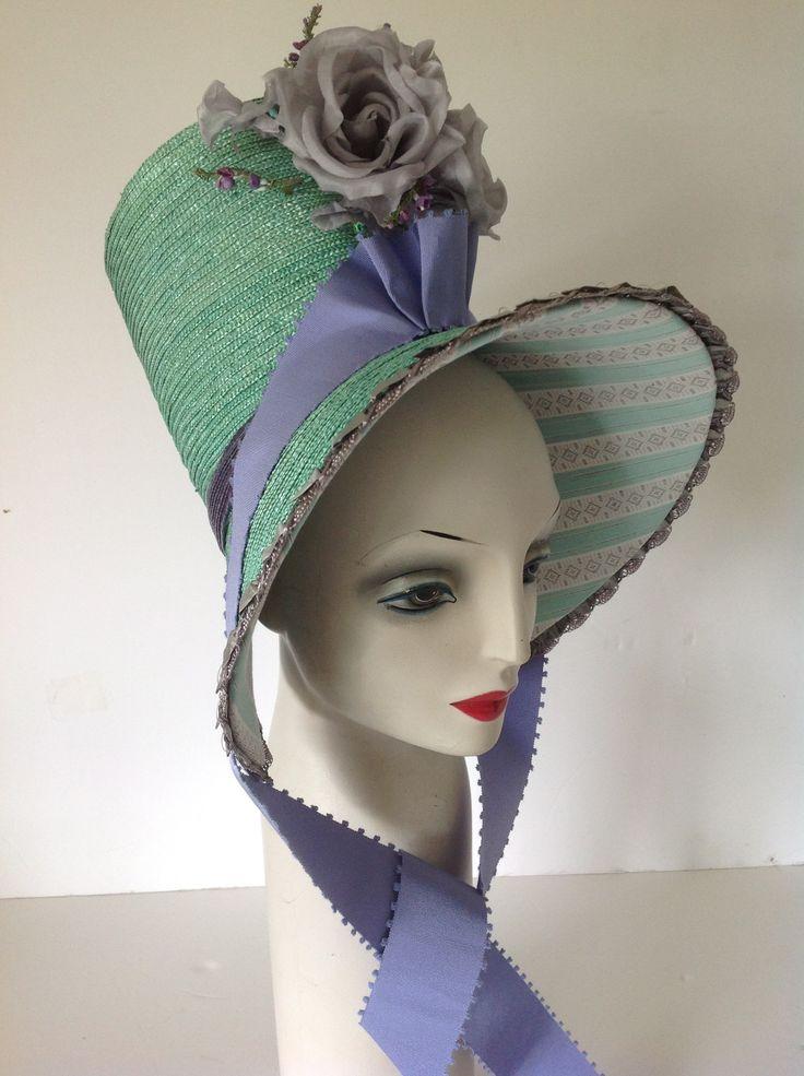 1800's  braided straw bonnet