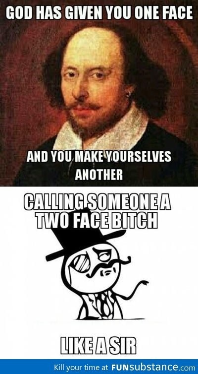 Insult like Shakespeare.