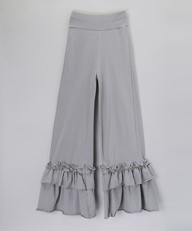 Look at this #zulilyfind! Gray Ruffle Pants - Women by Boutique Basics #zulilyfinds
