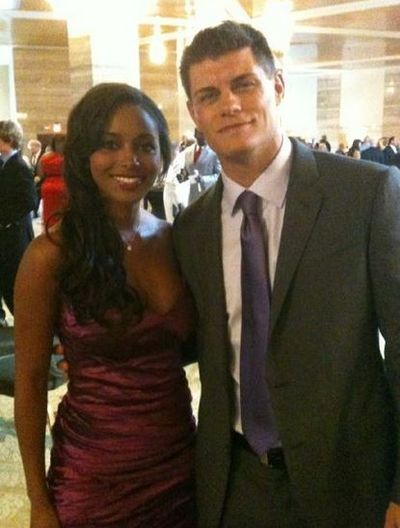 Newlyweds!  Cody Rhodes (professional wrestler and son of Dusty Rhodes, The American Dream - remember him old school wrestling fans!) & Brandi Reed-Rhodes