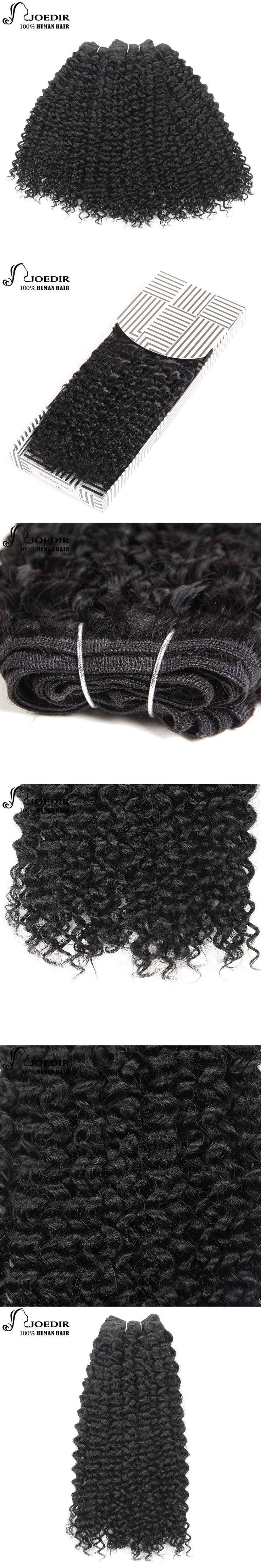 Joedir Pre-Colored Brazilian Remy Human Hair Weave Afro Kinky Curly Weave Human Hair Bundles Hair Natural 1B Color Free Shipping