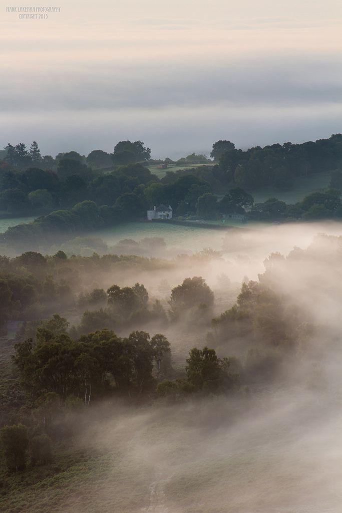 Autumn mist on Dartmoor ༺✿༺ Devon, England.