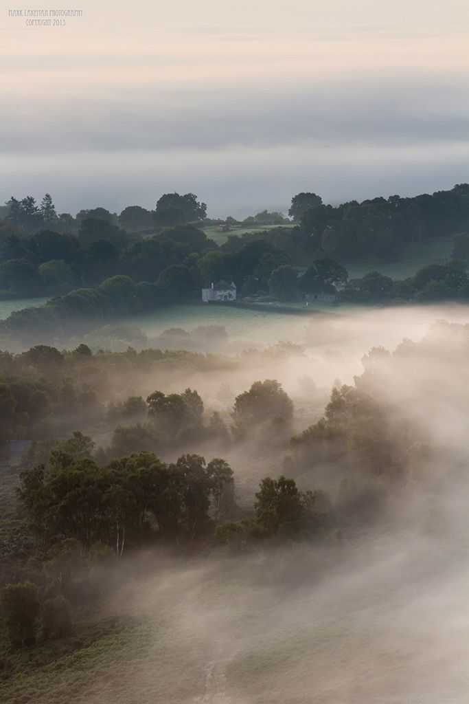 Autumn mist on Dartmoor - Devon, England by lakemans