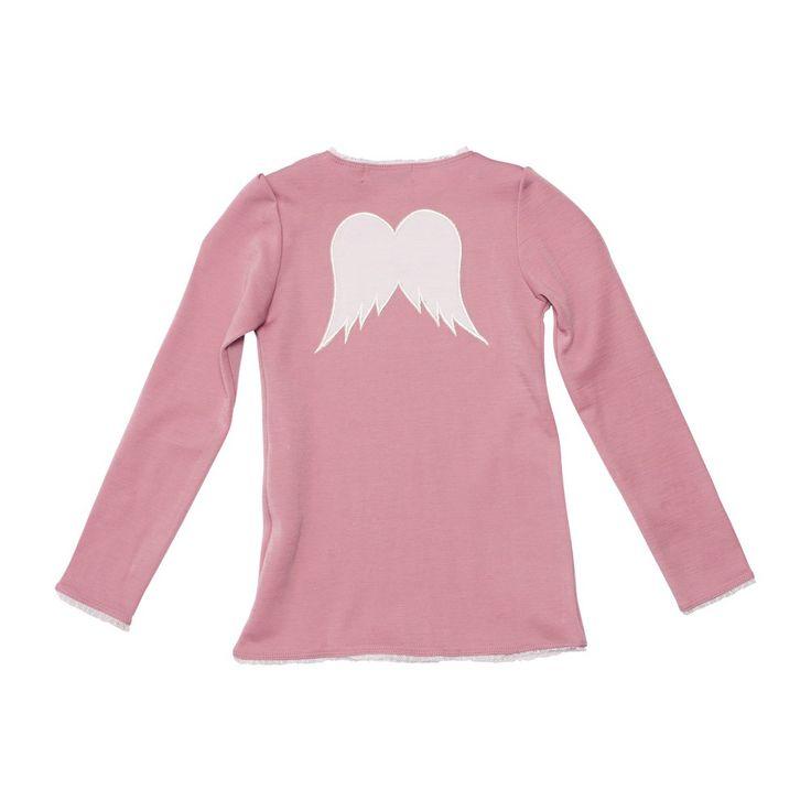 WoolLand ULLTOPP JENTE 2-7 ÅR BERGEN, Pink Blush