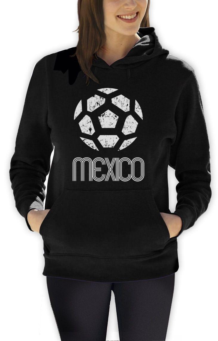 Mexico Classic Women Hoodie Retro Football Copa America 2015 Style Soccer