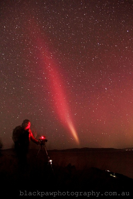 Aurora Australis - Tasmania, Australia I saw this when I was on King Island, except it was green....