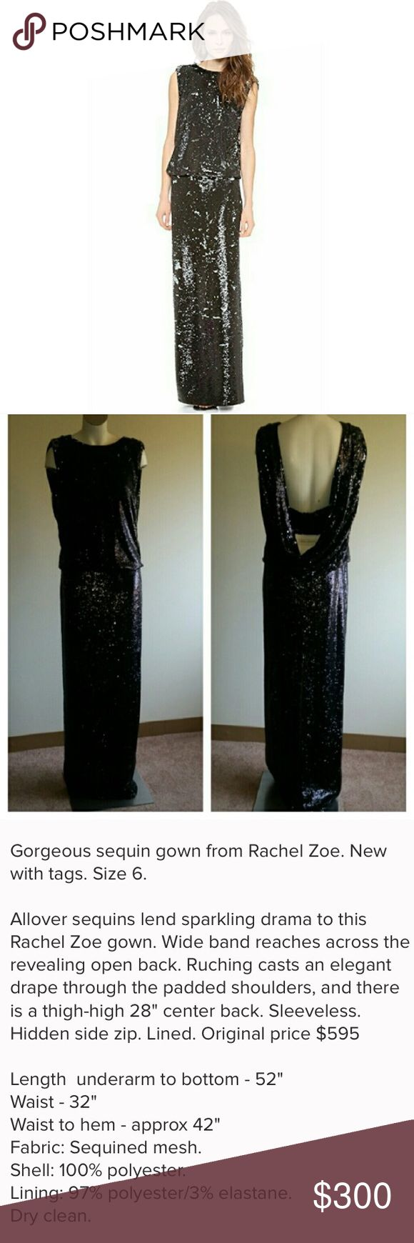 Rachel Zoe Sequin evening gown Gorgeous amazing dress just a tad too large for me! Ladies this is a perfect dress for that special evening! Rachel Zoe Dresses