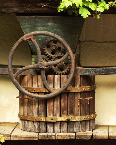 Travel Photography of Old Wine Press in Rhine Valley Germany - 11x14 Print
