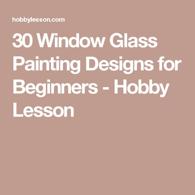 30 Window Glass Painting Designs for Beginners - Hobby Lesson