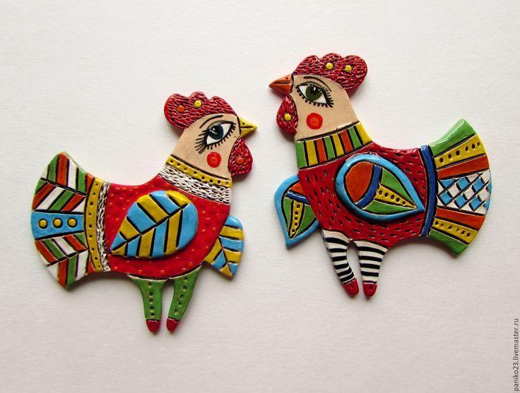 Купить Символ 2017 года Красный Петух - ярко-красный, петухи, петух в подарок…