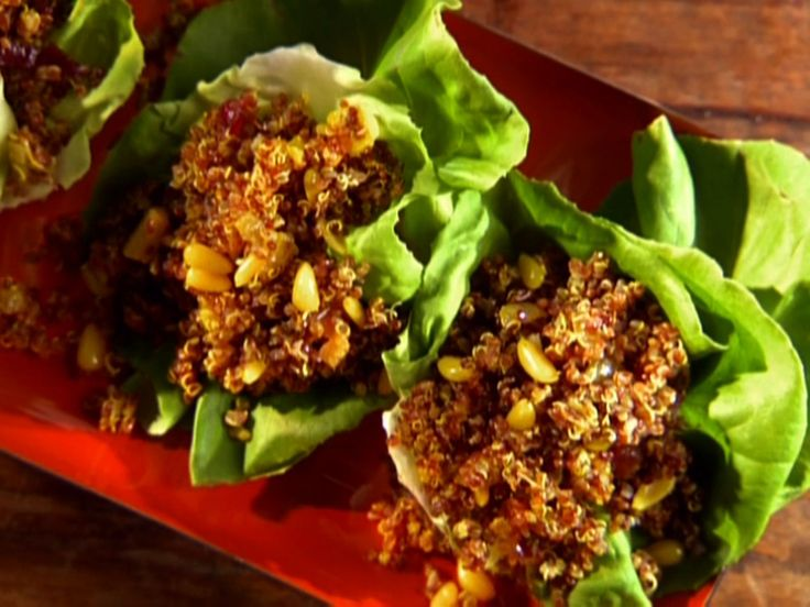 239 best yummy quinoa rice dishes images on pinterest vegan quinoa pilaf in lettuce cups forumfinder Images