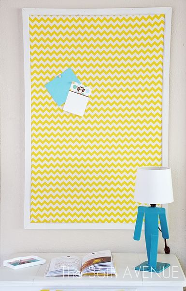 DIY Fabric Covered Pin Board Tutorial by the36thavenue.com #girlsroom #pinboard