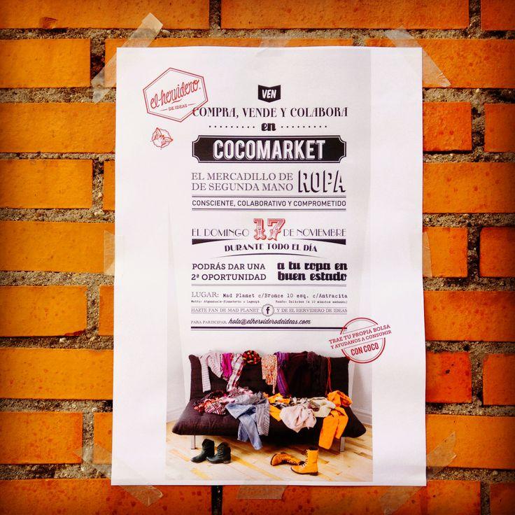 Cocomarket, Mercadillo de ropa de segunda mano de mujer y de hombre. 17 de noviembre en Madrid