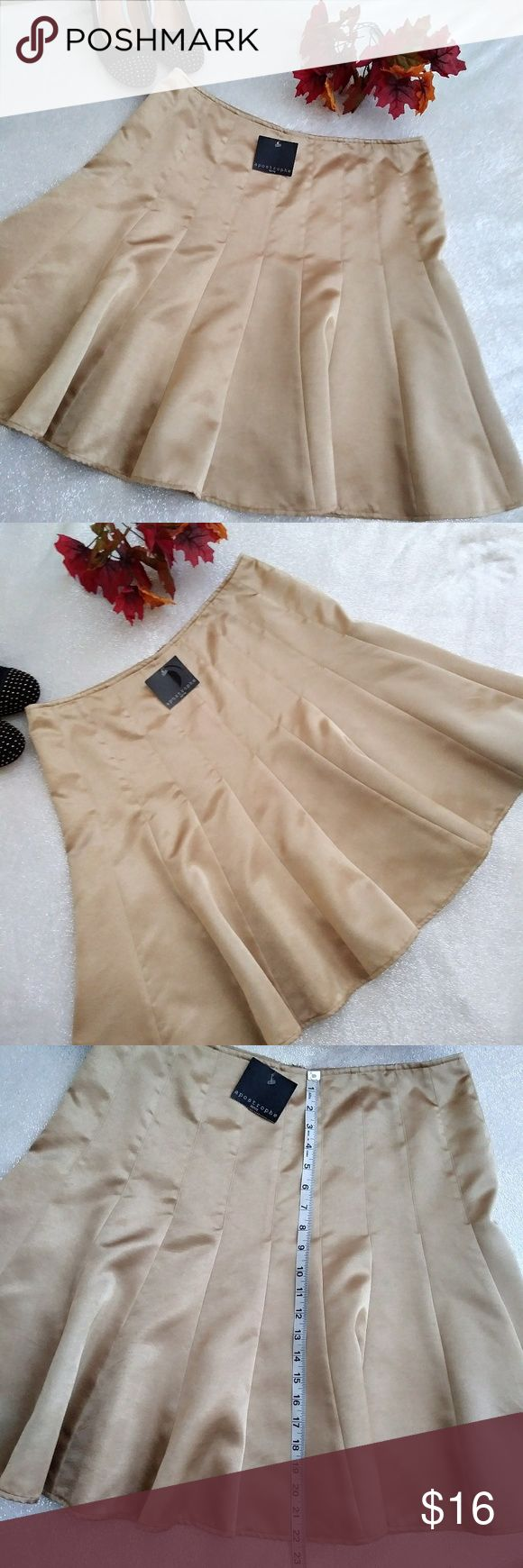 NWT Gold 16 Petite A Line Mermaid Skirt NWT Gold 16 Petite A Line Mermaid or Trumpet Skirt Back Zipper See Pics for Measurements Aeropostale Skirts Midi