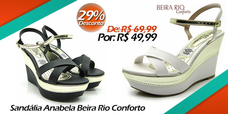 Sandália Feminina Anabela Beira Rio Conforto