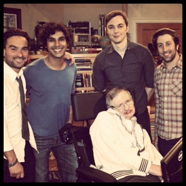The Big Bang Theory Casts and Stephan Hawking