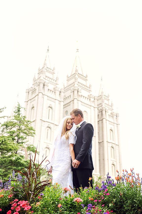 S.W. Portraits-SLC LDS Temple Wedding. Gorgeous Couple. Romance Wedding Day
