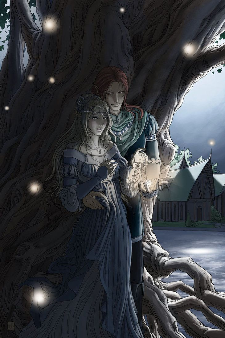 Rhoe and Evalin [Mother Tree - final version by Vyrhelle-comm]