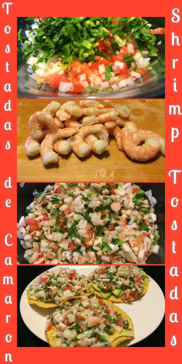 Shrimp Tostadas/Tostadas de Camarón