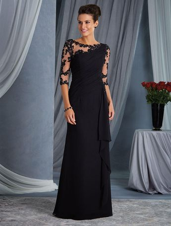 b518cf353e Check out the deal on Alfred Angelo 9045 Sheer Sleeve Mothers Gown at French  Novelty