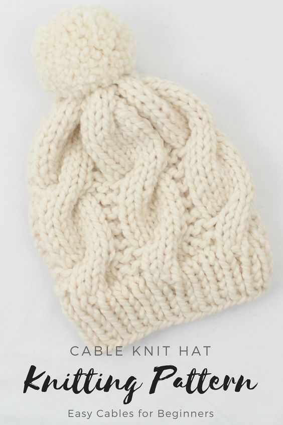 Cable Knit Hat Pattern  6d56344035d