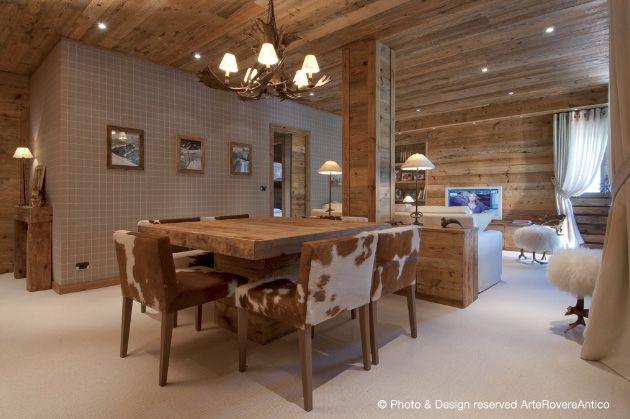 Arte Rovere Antico - Photo by Duilio Beltramone for Sgsm.it - Casa Scacchi - Limone Piemonte - Italy - Wood Interior Design - Mountain House