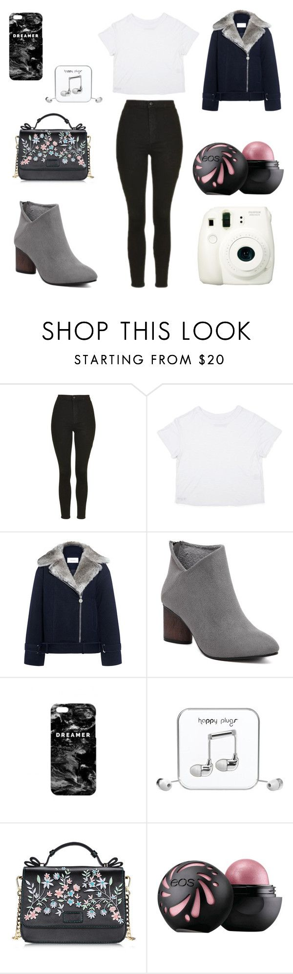 """Untitled #65"" by nazare-cruz ❤ liked on Polyvore featuring beauty, Topshop, Carven, Mr. Gugu & Miss Go, Happy Plugs and Fuji"