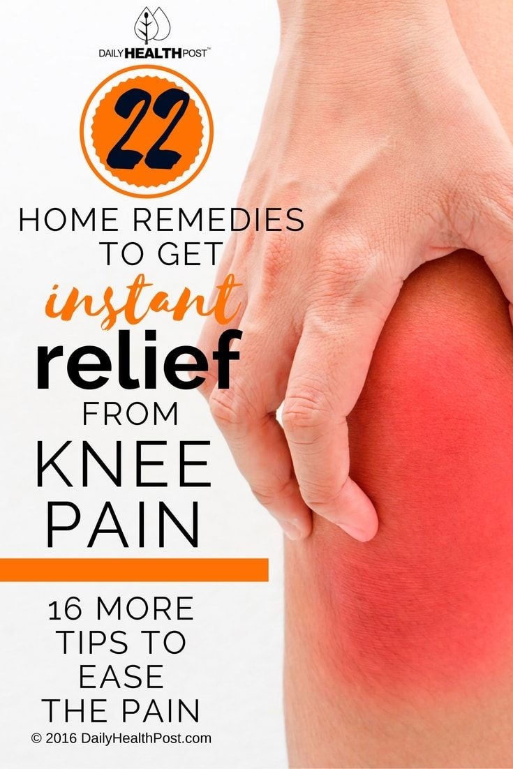 22 Home Remedies To Get Instant Relief From Knee Pain & 16 More Tips To Ease The Pain via @dailyhealthpost