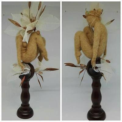 Autumn needle felted OOAK doll by Tatiana Canini