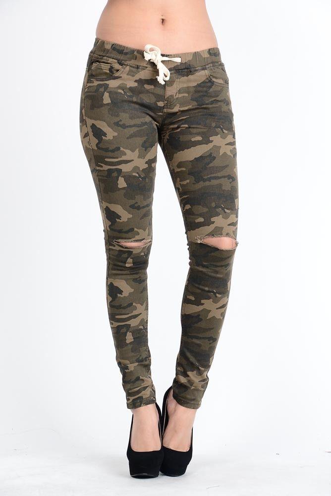 Jerrica Camo Skinny Pants