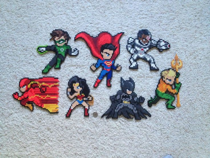 Perler Justic League - Album on Imgur - Visit to grab an amazing super hero shirt now on sale!