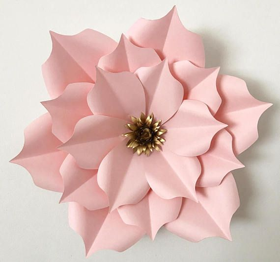 SVG Paper Flower Template DIGITAL Version with Base  Original