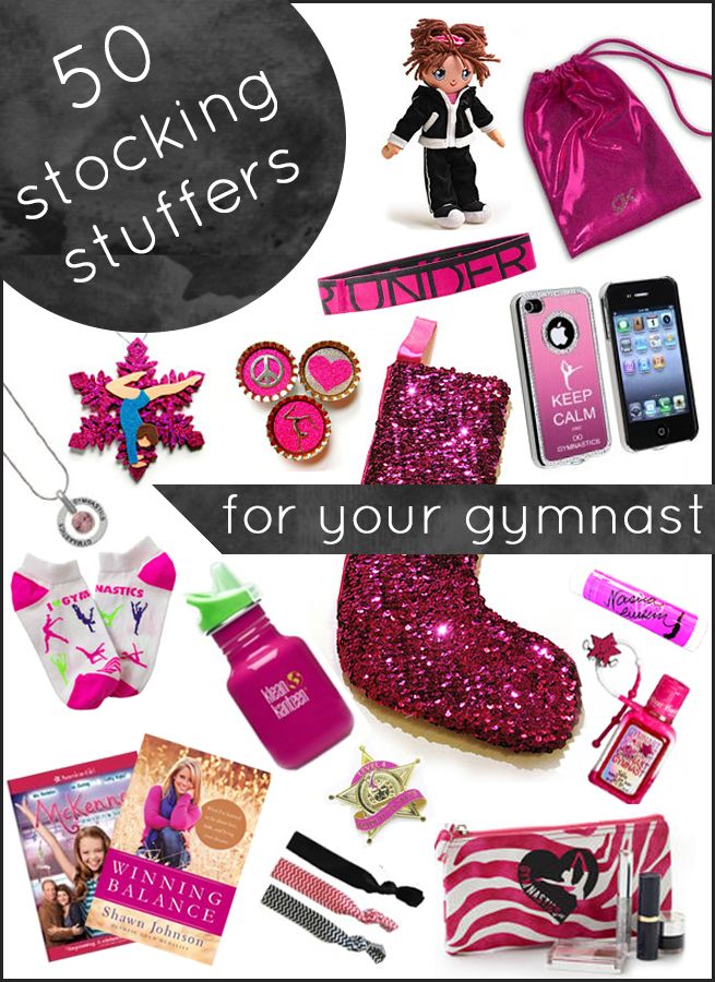 50 great stocking stuffer ideas for gymnasts - shares ideas for all ages!