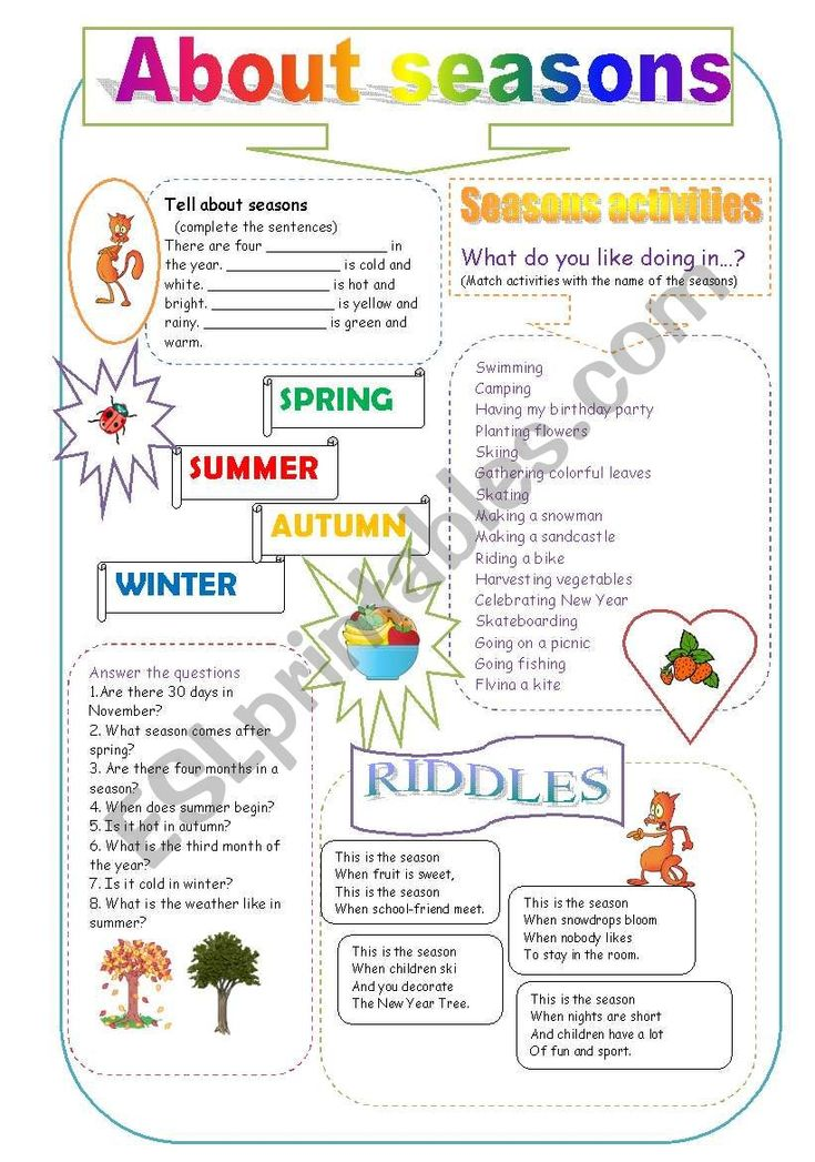some riddles and activities about weather and seasons