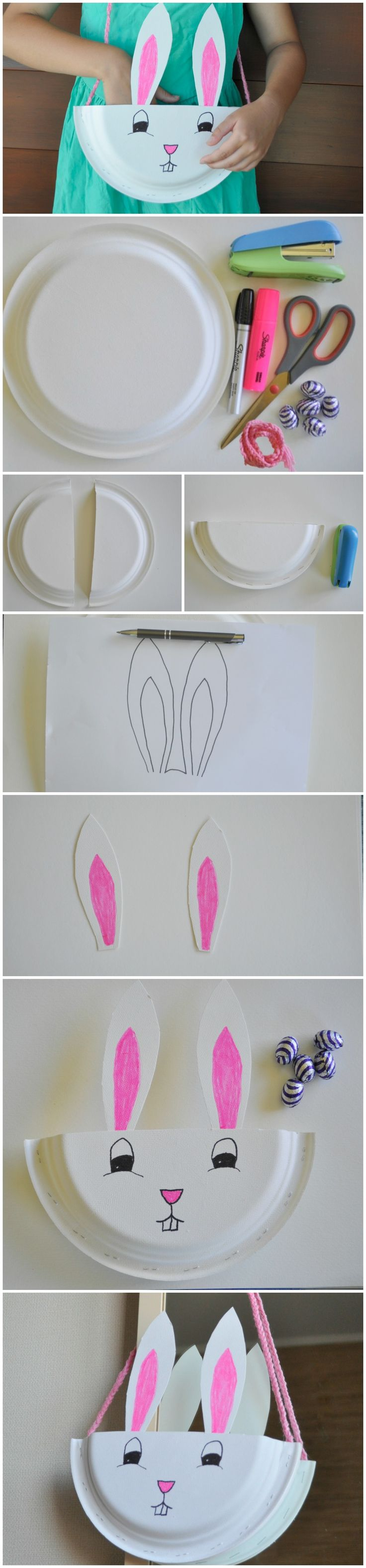 Paper Plate Bunny Bag/Basket