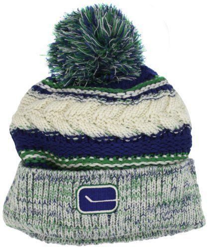 NHL Vancouver Canucks Women's CCM Cuffed Knit Hat With Pom, One Size,Blue adidas. $10.35