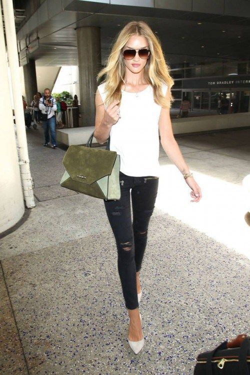Rosie Huntington Whiteley,  blogger, White T-shirt, tshirt, tee shirt, actress, model, singer, hot, celebrity
