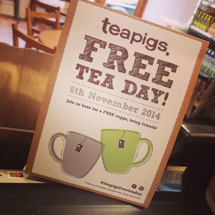 Eat at Bloom, giving away a hundred free cups of tea to the people of Nantwich #teapigsfreeteaday