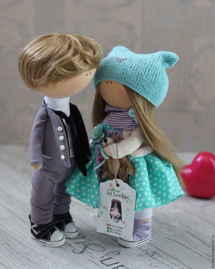 Купить Интерьерная куколка - бирюзовый, интерьер, интерьерная кукла, интерьерная игрушка, текстильная кукла