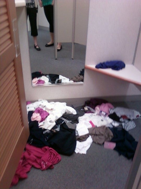 Image result for filthy fittings  rooms in stores