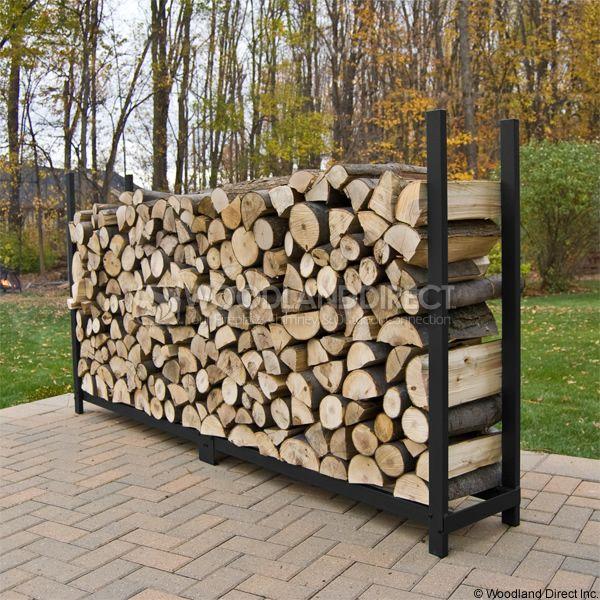 8ft woodhaven firewood rack black firewood racks - Firewood Racks