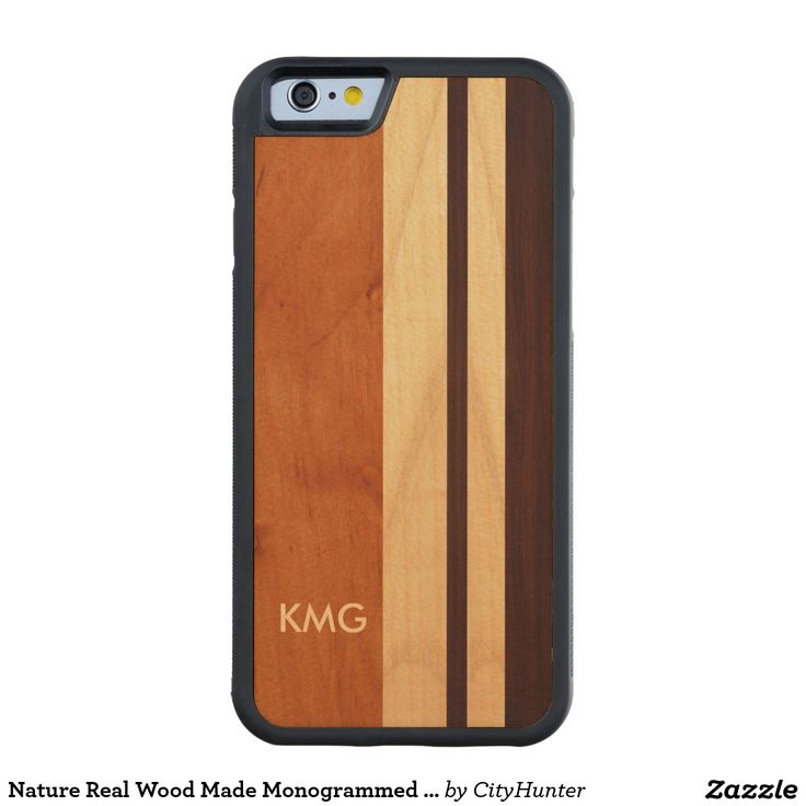 Nature Real Wood Made Monogrammed Monograms Carved® Maple iPhone 6 Bumper Case
