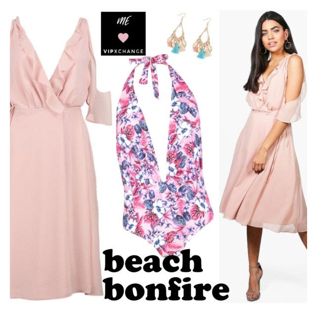 """Summer Nights: Beach Bonfire-Vipxchange"" by vipxchange ❤ liked on Polyvore"