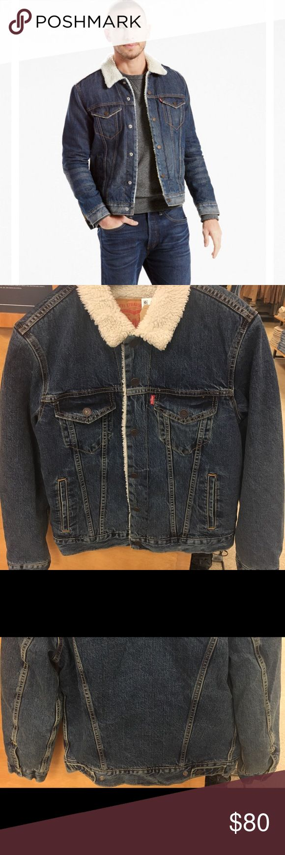Nwt Men's Levis Sherpa Jacket Size medium  Denim sherpa jacket Brand new with tags Not sure if same exact color as online picture used but same style.  Could fit women as oversized as well  100% Authentic  Smoke free environment Signature by Levi Strauss Jackets & Coats